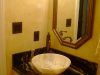 Hall bath after mottled faux finish