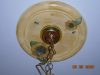 Kitchen ceiling light fixture medallion faux finished to match walls