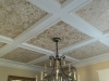Gold/Bronze Filigree in Coffered Ceiling