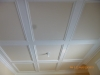 Coffered ceiling before faux/dining room