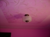 Faux triple tray ceiling with galaxy swirls