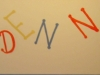 kids wall Free-hand lettering