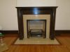 Antique wooden mantle after restoration