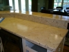 Marbled kitchen counter top over laminate