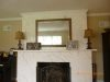 Mantle, marbleized over wood with refurbished mirror