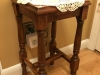 Antique accent table after restoration