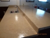 Textured counter top after resurfacing