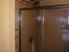 Shower area after horizontal striping