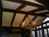 Stained wooden beams