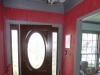 Foyer after/Red with Metallic Silver Strie and silver top border
