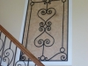 Wall inset with wrought iron custom piece