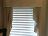 Padded Wood-mounted Satin Cornice with cascades