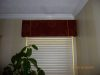 Board-mounted cornice with decorative trim/dining room
