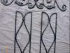Wrought iron Wall accents in brushed silver